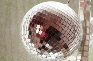 Santa did get him a disco ball ornament.