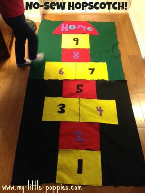 How to Make a DIY Hopscotch Mat