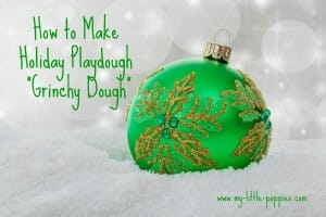 play dough playdough holiday christmas sparkle peppermint grinch