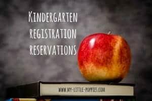 kindergarten registration reservations
