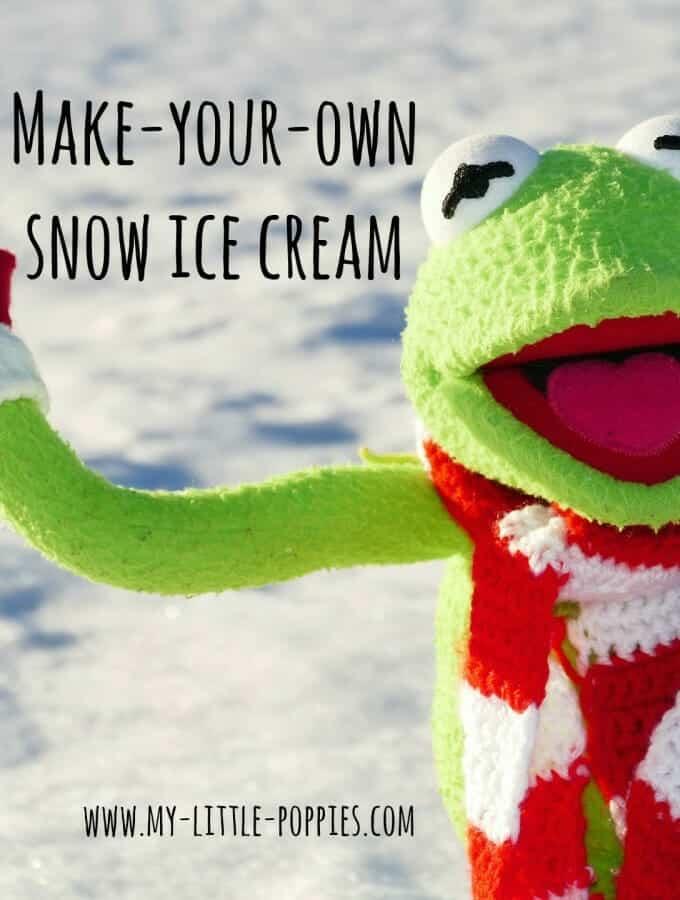 Make Your Own Snow Ice Cream