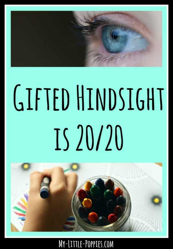 giftedness, parenting gifted, 2e, twice-exceptional, testing, child development, gifted education, Gifted Hindsight is 2020  My Little Poppies