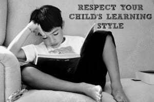 respect your child's learning style