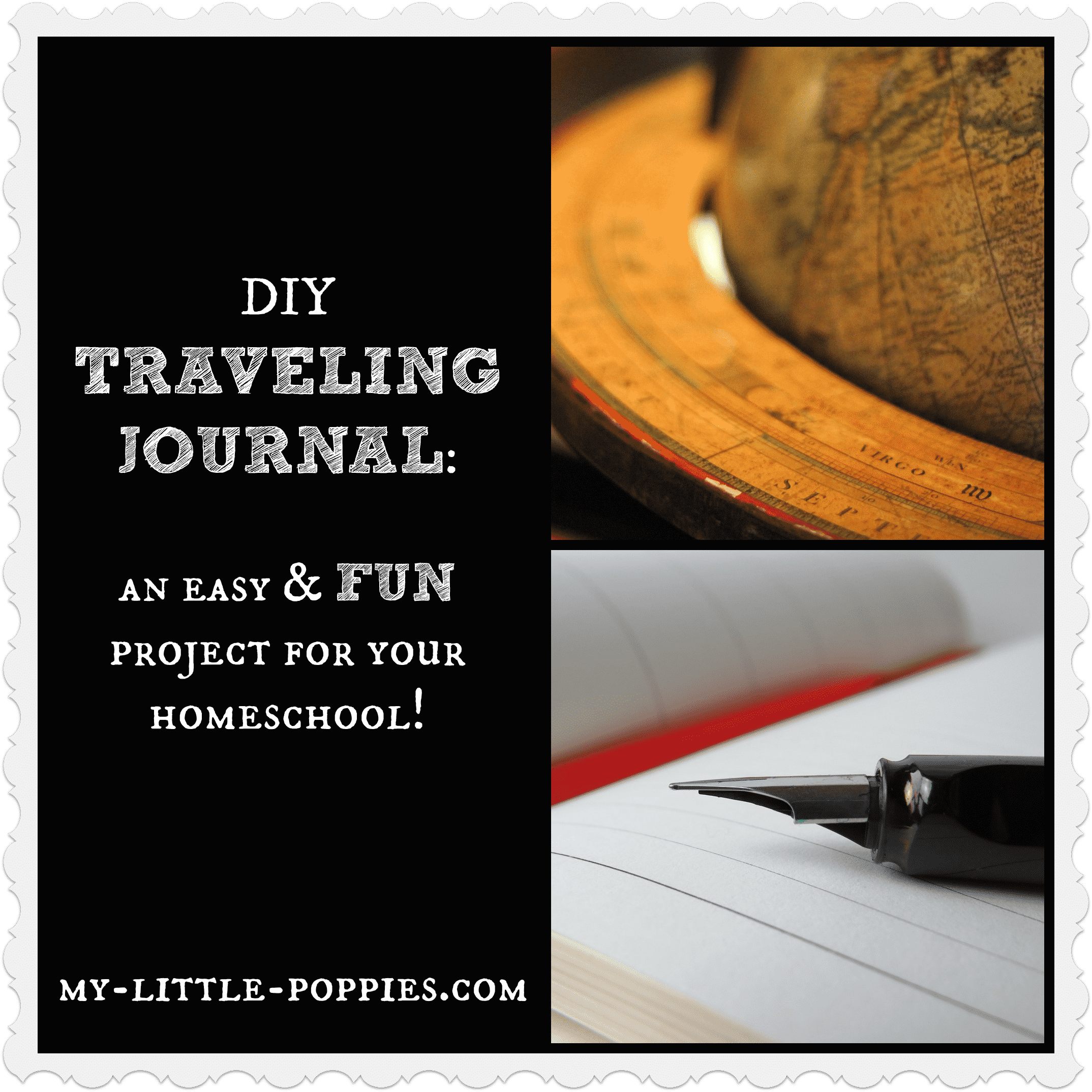 DIY Travel journal homeschool project idea geography social studies culture