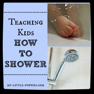 Teaching Kids How to Shower