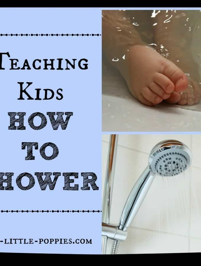 Teaching Kids How to Shower {Yes, this just happened}