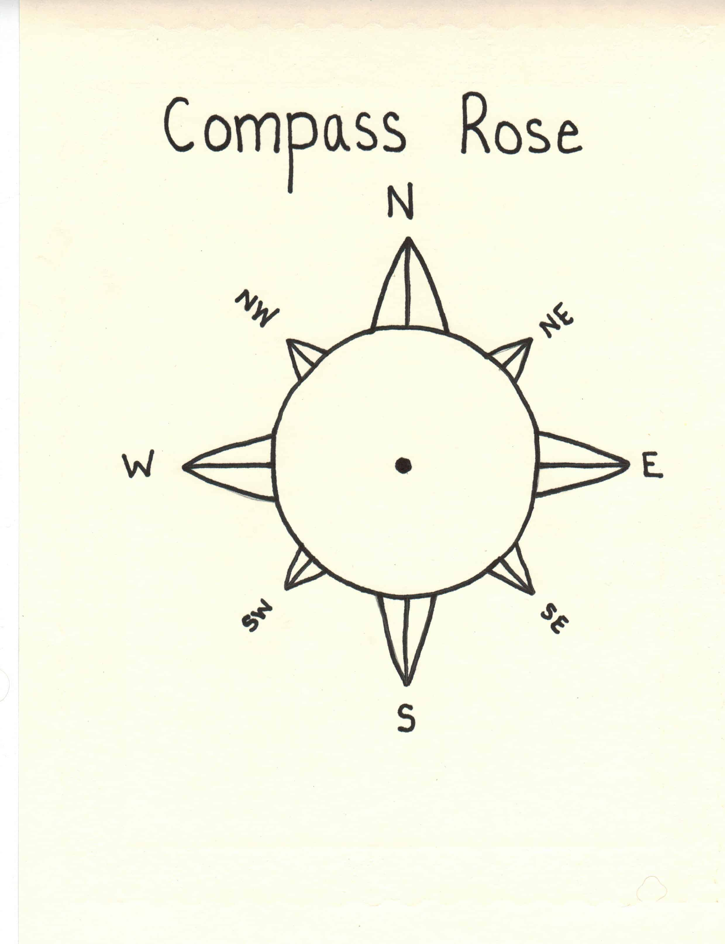 Compass rose for little kids