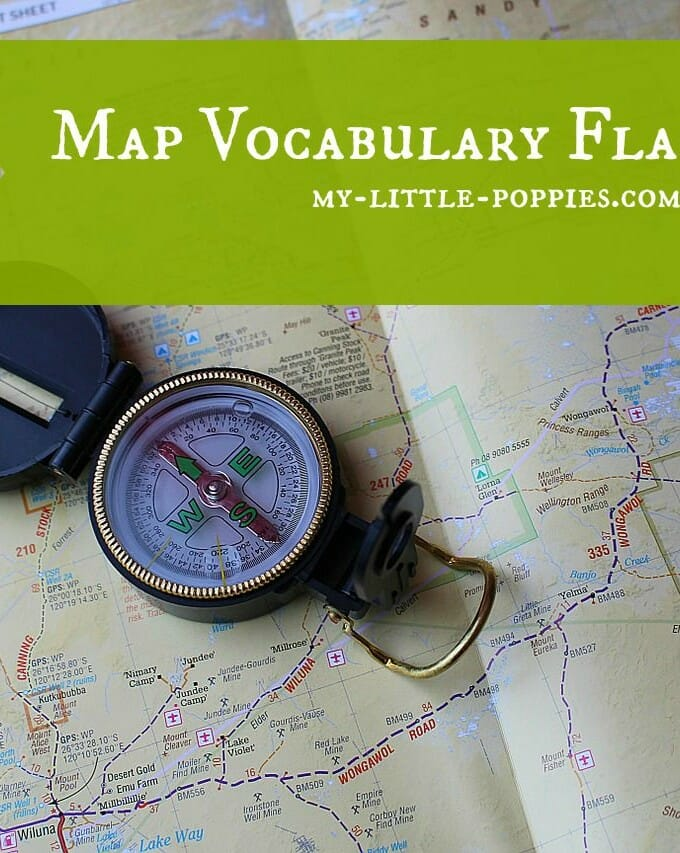 Map Vocabulary Flash Cards