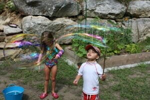 Giant Bubbles for Giant Smiles A Big Bubble Recipe that Actually Works! | My Little Poppies