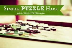 homeschool, parenting, organization, puzzles, puzzle storage, tips and tricks, DIY, hacks