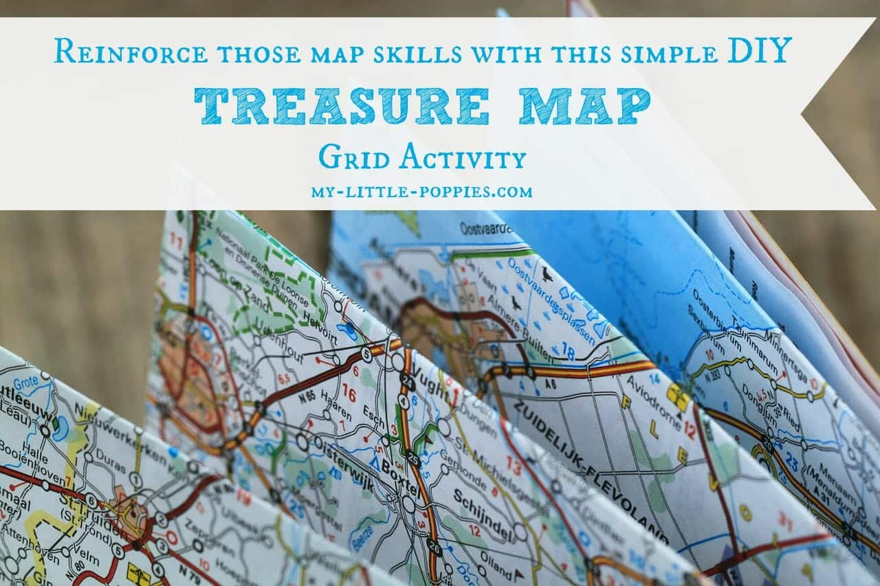 Treasure Map Grid Activity | My Little Poppies