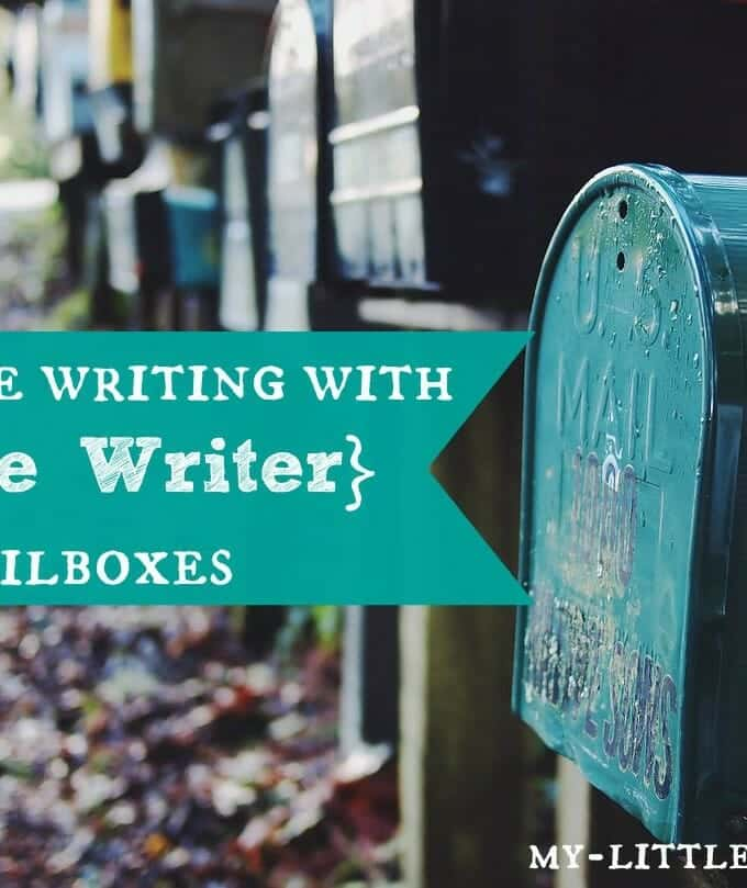 Encourage Writing with Brave Writer Mailboxes