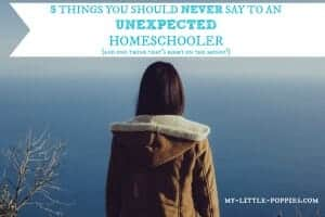 5 Things You Should NEVER Say to an UNEXPECTED Homeschooler