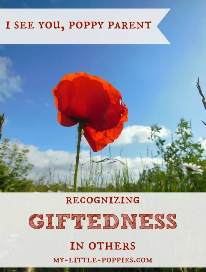 I See You, Poppy Parent {Recognizing Giftedness in Others}