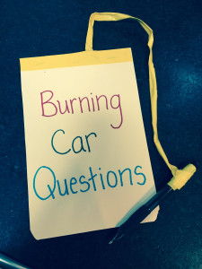 burning car questions