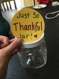 Just So Thankful Jar, gratitude, thankfulness, gratitude, build empathy, kindness, thanksgiving, family, homeschool project