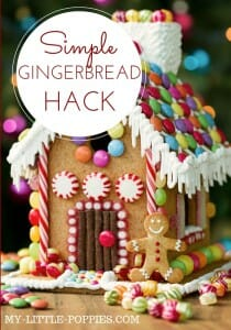A Simple Gingerbread Hack: Save time and focus on the fun this holiday season with this simple gingerbread house decorating strategy!