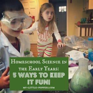 Homeschool Science in the Early Years 5 Ways to Keep it Fun!