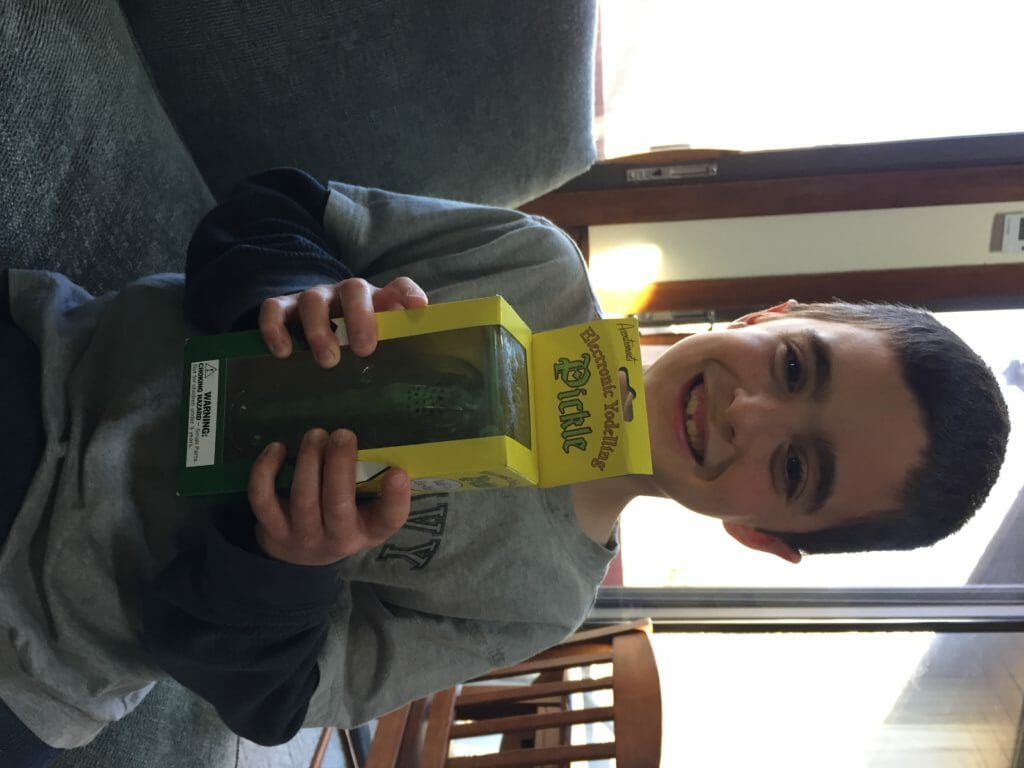yodel, pickle, gag gift, laughter, funny, hysterical