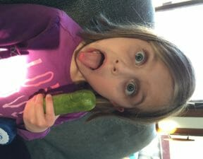 Reunited with the world's goofiest pickle.
