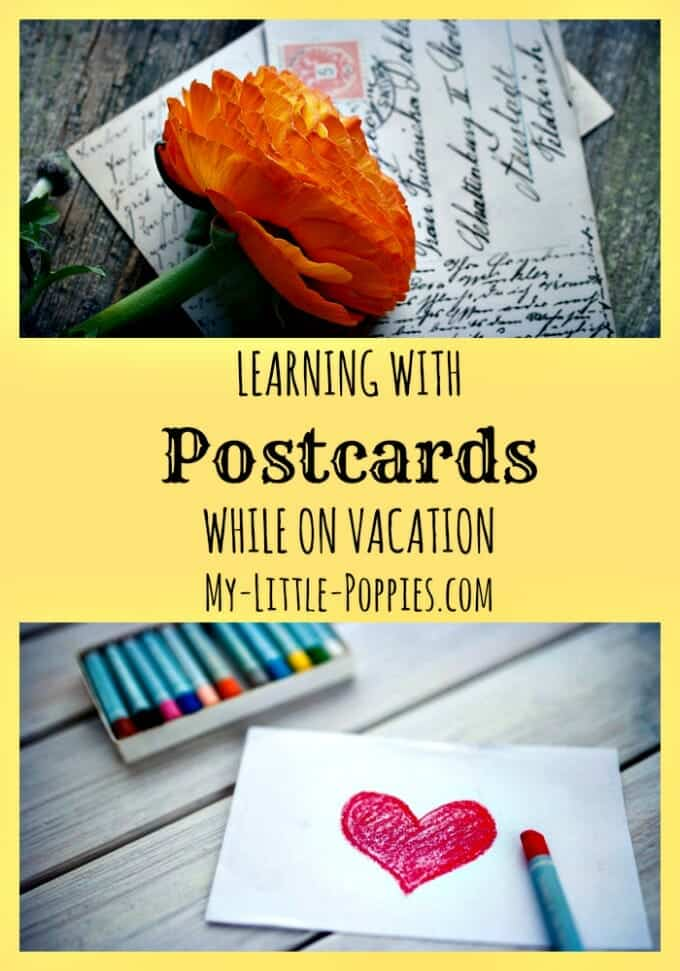 Learning with Postcards and Letters While on Vacation, homeschool, homeschooling, homeschooler, road schooling