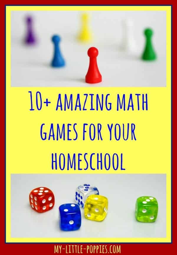 gift guide, 10+ Amazing Math Games for Your Homeschool My Little Poppies, educational games, homeschool, homeschooling, math facts, practice math, play,