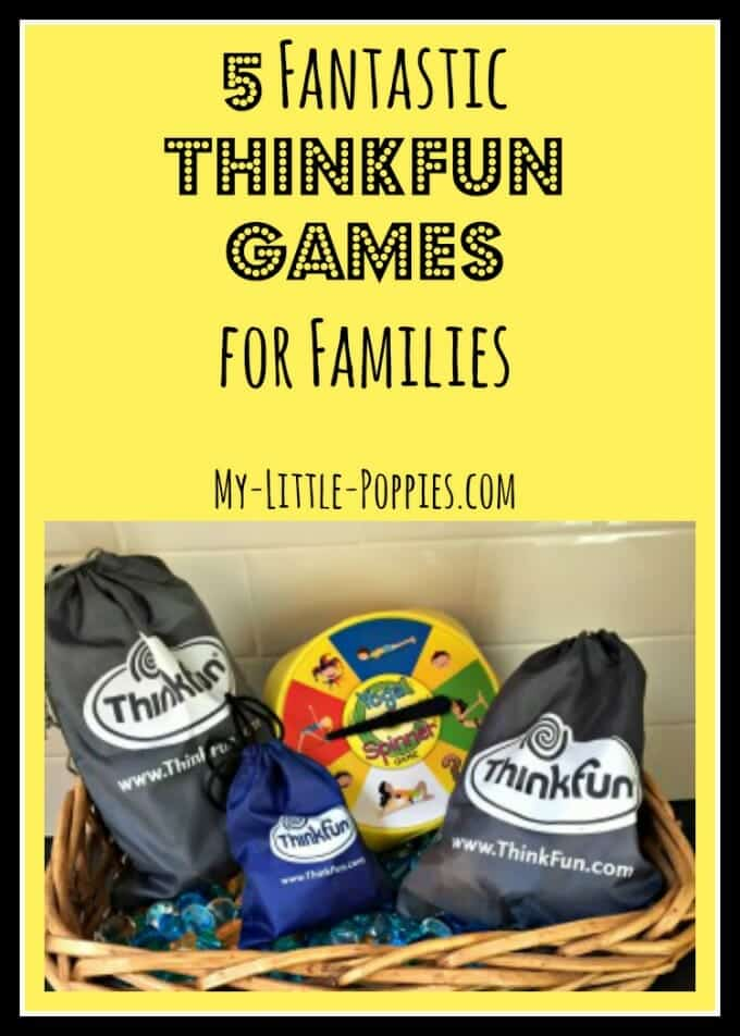 5 Fantastic ThinkFun Games for Families, board games, educational games, giveaway
