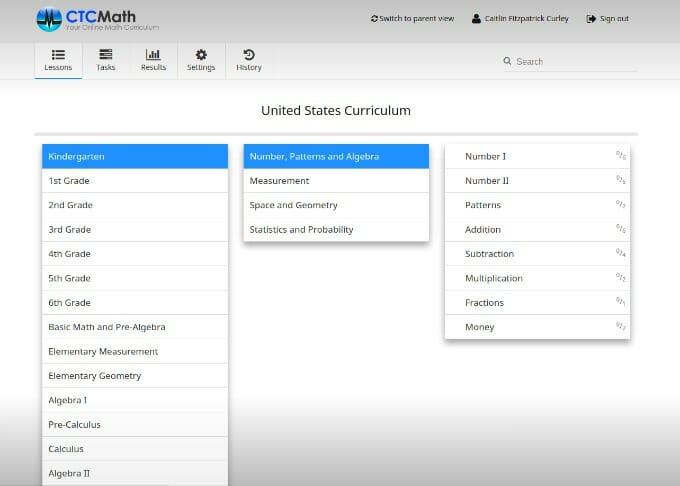 CTC Math, online math curriculum, homeschool, homeschooling, homeschooler