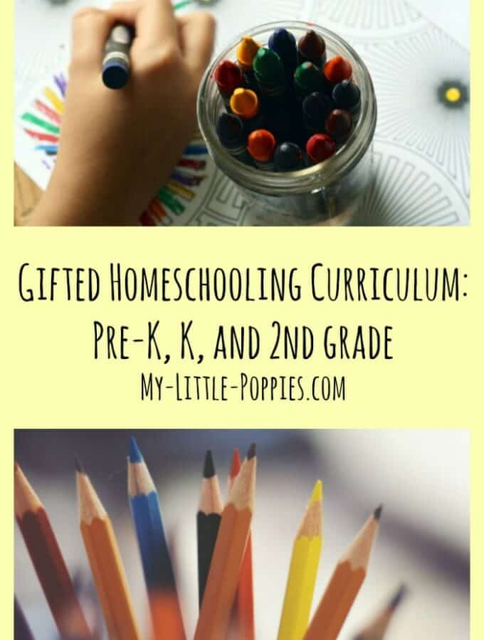 Gifted Homeschooling Curriculum: Pre-K, K, and 2nd grade