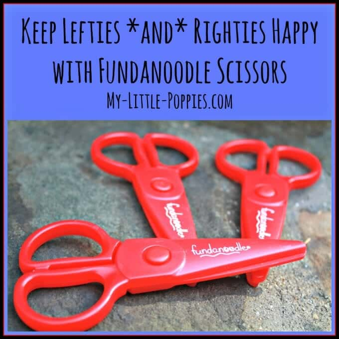 lefty, scissor skills, fine motor, ot, occupational therapy, Keep Lefties and Righties Happy with Fundanoodle Scissors