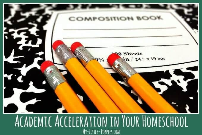 Academic Acceleration in Your Homeschool | My Little Poppies, gifted, giftedness, homeschooler, twice-exceptional, 2e