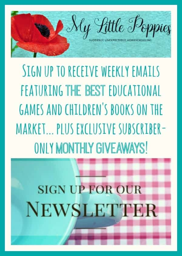 Sign up to receive weekly emails featuring the best educational games and children's books on the market... plus exclusive subscriber-only monthly giveaways!