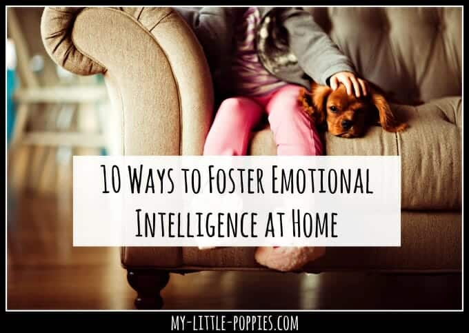 10 Ways to Foster Emotional Intelligence at Home | My Little Poppies, social-emotional skills, kindness, empathy, emotional intellect, EQ, EI, social skills, emotion identification, gifted, twice-exceptional, 2e, parenting