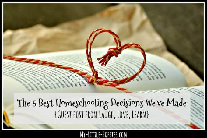 The 5 Best Homeschooling Decisions We've Made {Guest post from Laugh, Love, Learn} | My Little Poppies