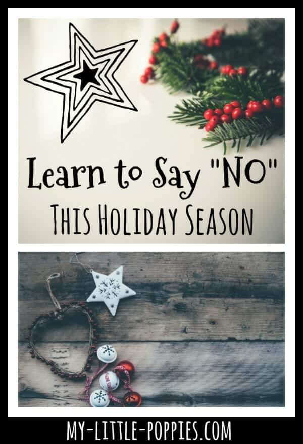 "Learn to Say ""No"" This Holiday Season"