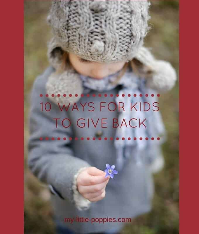 10 Ways for Kids to Give Back