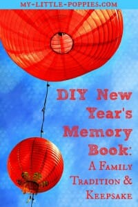 DIY New Year's Memory Book A Family Tradition and Keepsake New Year's Memory Book