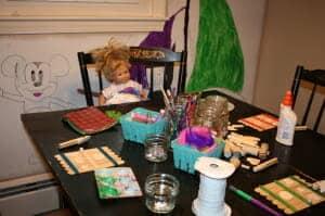 Linda supervised the craft-palooza set up.
