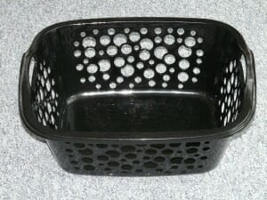 The thing about laundry baskets is, they are never empty for more than thirty seconds.