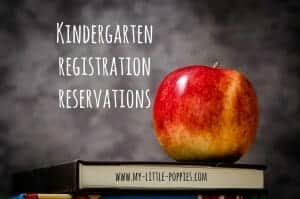 kindergarten registration reservations