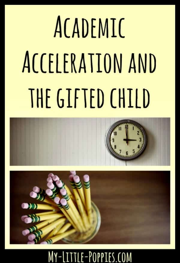 Academic Acceleration and Homeschooling, gifted, giftedness, gifted education, homeschool, public education, retention, twice-exceptional, 2e, Academic Acceleration and the Gifted Child My Little Poppies