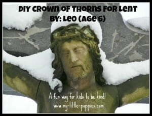 diy crown of thorns for lent
