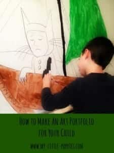 How to Make An Art Portfolio for Your Child