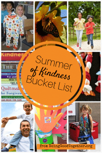 Summer of Kindness Bucket List from DoingGoodTogether.org