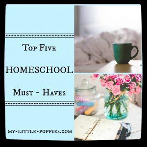 5 Homeschool must haves