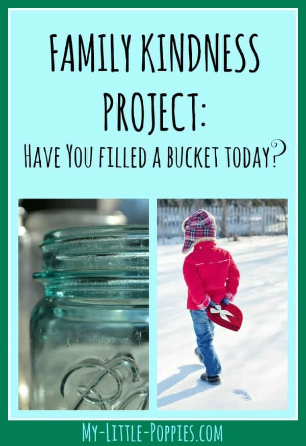 Family Kindness Project: Have you FIlled a Bucket Today? | My Little Poppies