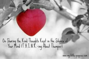 T.H.I.N.K.-ING ABOUT THUMPER