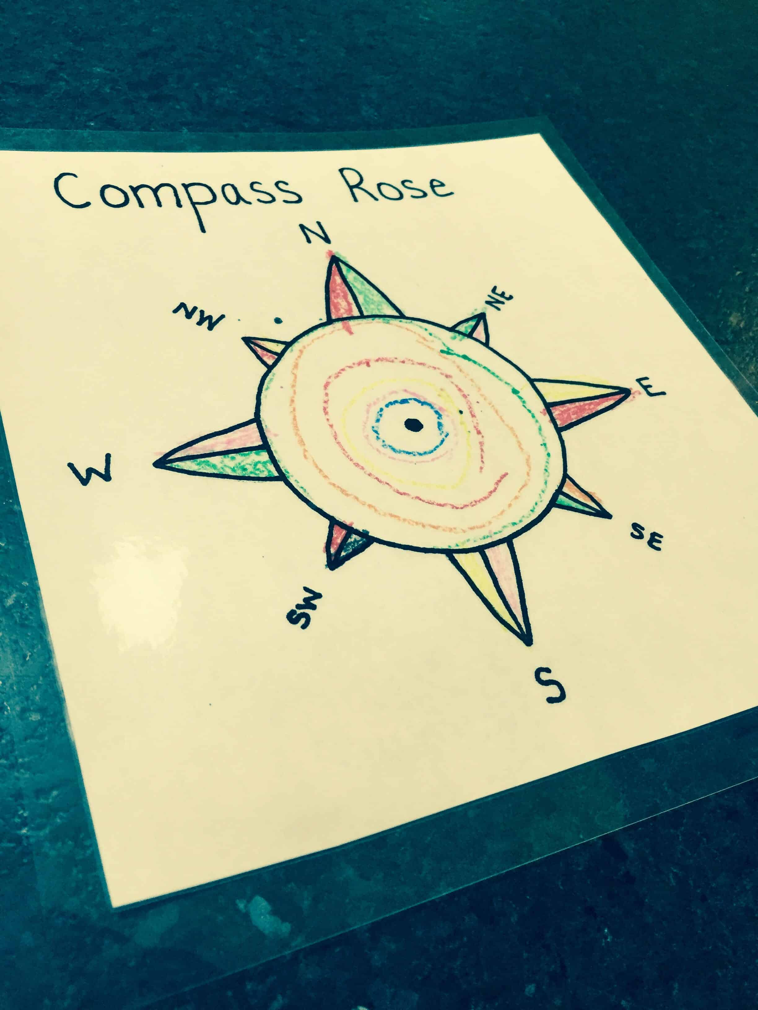 Compass Rose Activity My Little Poppies