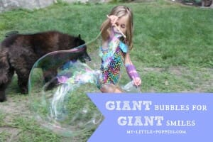 GIANT bubbles for GIANT smiles