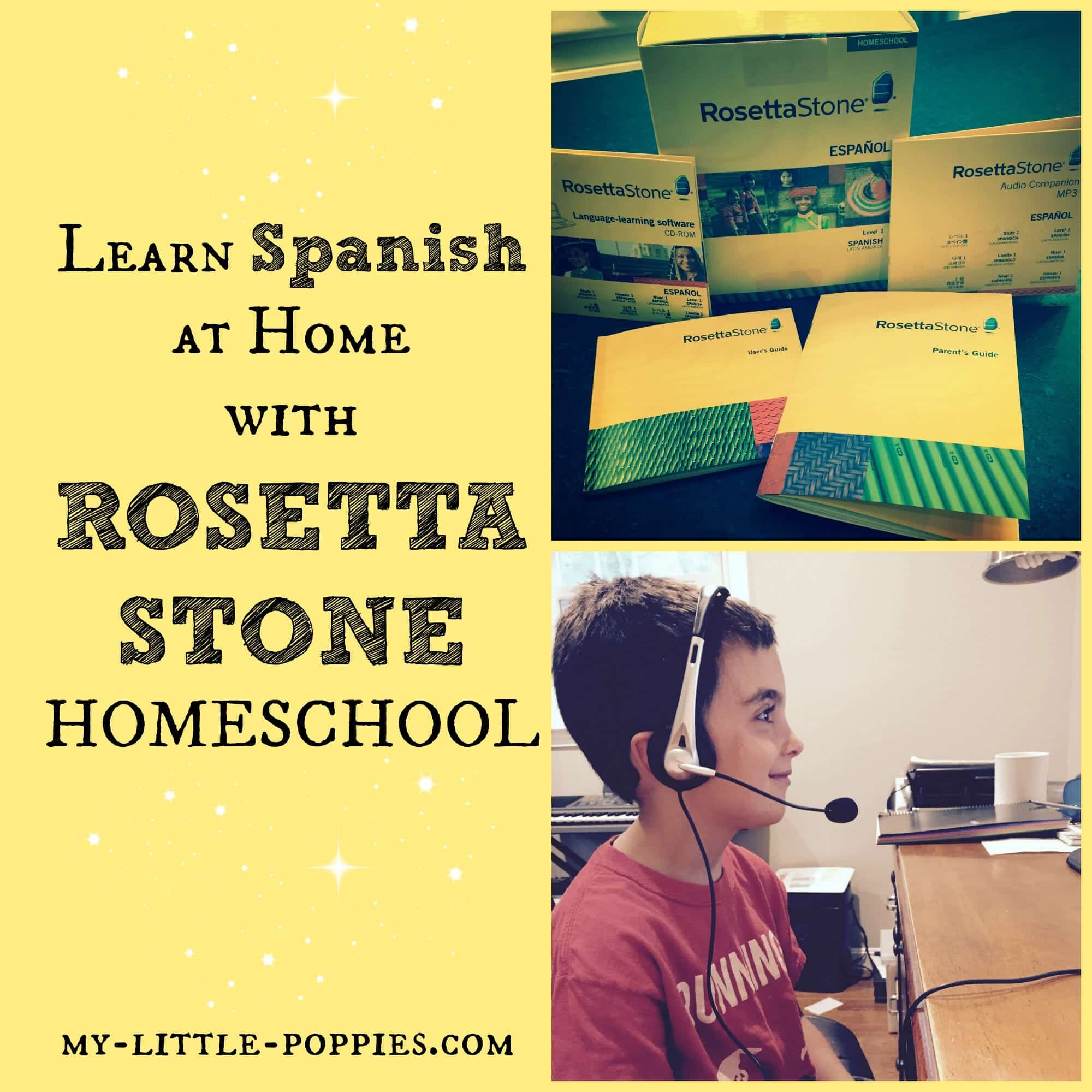 Learn Spanish at Home with Rosetta Stone Homeschool | My